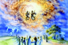 The Two Witnesses Being Taken Up Into Heaven