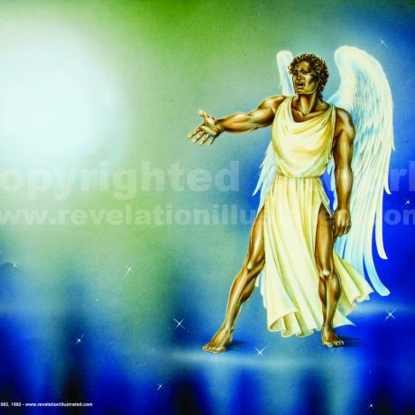 "The Mighty Angel Saying ""Who Is Worthy... ?"""